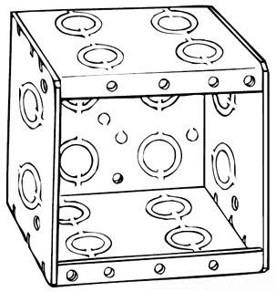 Raco 696 Masonry Box, 2-Device, Non-gangable, 3-1/2 in. Deep, End Knockouts