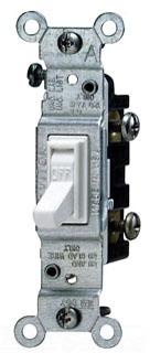 LEV 1451-2T 15A 120V SP SWITCH LIGHT ALMOND RESI GRADE