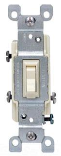 LEV 1453-2T 15A 120V 3WAY LIGHT ALMOND SWITCH