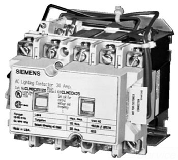 ITE CLM1C06277 Mechanically held lighting contactor Contactor amp rating 30Amp 0NC _ 6NO poles 277VAC 60HZ coil Non-combination type Enclosure NEMA type 1 Indoor general purpose use