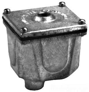 """HADCO BI1 4"""" CAST IRON JUNCTION BOX FOR IN-GROUND USE 1/2"""" TOP INLET (2)1/2"""" BOTTOM INLETS (fka STONCO SJ-2)"""