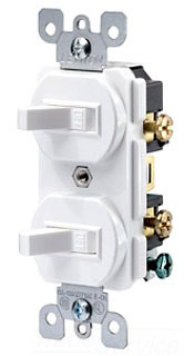 LEV 5224-2T SP-SP Stack Switch Lt ALMOND 15amp Grounded