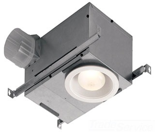 BROAN 744 RECESSED FAN-LIGHT 70CFM 2.0SONES USE PAR30L OR PAR30LN BULB