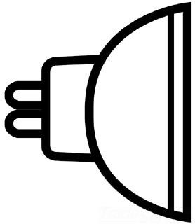 GE Q50MR16FL/12 QUARTZ LAMP 25482