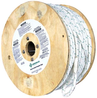 Greenlee 456 1/2 Inch x 600 Foot White Double Braided Composite Cable Puller Rope