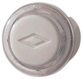 BROAN PB18LWHCL PUSHBUTTON CLEAR WITH WHITE CAP-LIGHTED