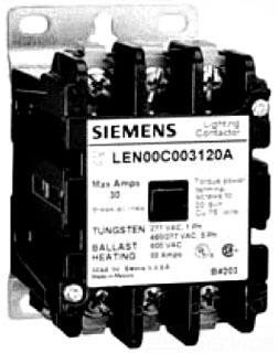 ITE LCE01C006120A 30/6 LTG CONTACTR 120V COIL NEMA 1 ENCL old LEN01C006120A