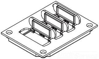 WALK 829PFL-BLK PVC RECT COMMUNI CVR FOR 880MP FLOOR BOX