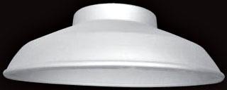 POLSH200 SHADE FOR 200W VAPORTITE - PAINTED WHITE UNDERSIDE - M/C 6, NSI