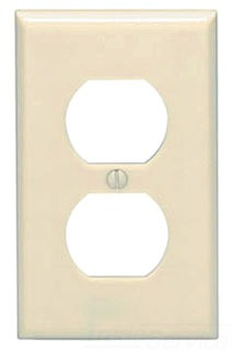 LEVITON 82003 P8-A 1G DUPLX REC WP --- WALL PLATES & COVERS