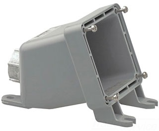 LEV BX60-V 60A BACK BOX W/ADPTR PLT FOR PIN & SLEEVE RECEP.