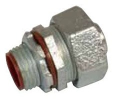 Topaz 470S 38IN Malleable Iron Straight Component Insulated Throat Liquid Tight Connector