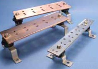 "ERICO EGBA14412BB 12"" Grnd Bar Kit 1/4""X4""X12"" BusBar w/Insulators & Mounting Brackets *Contact Factory For Pricing*"