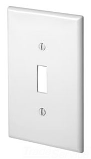 LEV PJ1-W 1G SWITCH PLATE MIDI WHITE NYLON