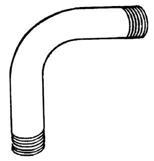 Conduit Couplings Elbows & Ac 1-IN-45 Degree Aluminum Conduit Elbow