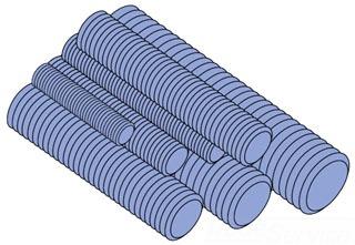 Unistrut HTHR025-10EG UNISTR Steel THRD ROD