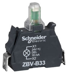 Schneider Electric ZBVBG6 Pushbutton Light Module 22MM 24120V XB4
