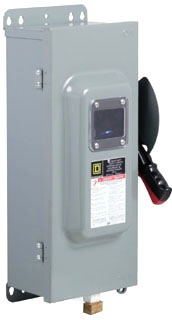 """""""""""Schneider Electric H361AWKVW Switch Fusible Hd 30A 3P View Window,"""""""""""" 263297"""