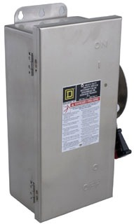 """""Schneider Electric HU361DSVW Switch Not Fusible Hd 30A StainlessView,"""""" 383404"
