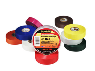 3M 35-Multi-Color Vinyl Color Coding Tape