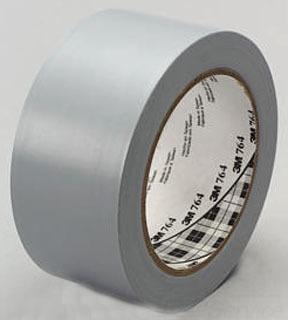 3M 764 2 Inch x 36 Yard Gray 24/Case General Purpose Vinyl Tape