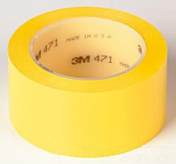 3M 471-Yellow-2inx36yd-Box Plastic Film Tape