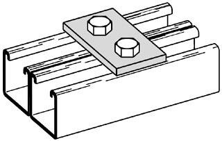 B340 ZN 2-H SPLICE PLATE ZN PLTD