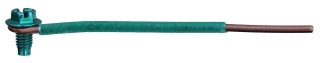 Ground Pigtail, 12.5 Inch, 12 AWG, Green
