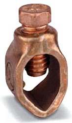 Copper, 5/8 Inch, Ground Rod Clamp, 8 to 1/0 AWG