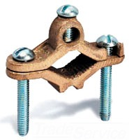 Ground Clamp for Direct Burial, For 1/2 to 1 Inch Pipe, 10 to 2 AWG