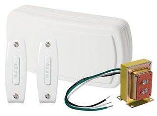 Doorbell, Wired Chime Kit, 2-Note Door Chime, 2 Pushbuttons, White