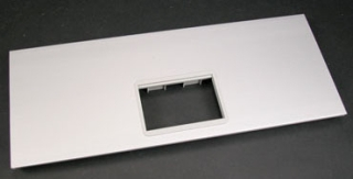 Cover Plate, 1 Adapter Opening, Aluminum