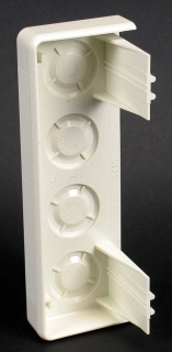End Fitting for Raceway, 5400 Series, 5 15/32 X 1 25/32 Inch , Ivory, PVC