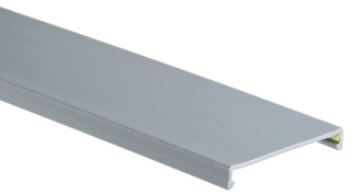 Wire Duct Cover, 3 X 6 Inch, PVC, Light Gray
