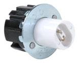 Fluorescent Lampholder, Snap-In, 660 Watt, 600 Volt, White