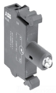 MLBL-00G GREEN LAMP BLOCK W/LED 12D