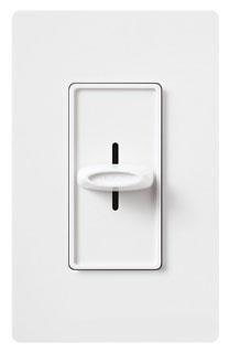 Fluorescent/LED Dimmer, Slide/Button Switch, 150 Watt, 120 Volts, 3 Way, White