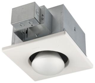 One-Bulb Heater,Broan,250 WTT,120 V,CEIL,STL HSG,2.1 AMP