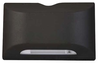 PG SERIES, BLACK EMERGENCY LED SCONCE, FOUR-LONG LIFE, 6350K,HIGH-OUTPUTLEDS CON