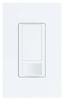 Occupancy Sensor, Decorator Switch, 250 Watt, 120 Volt, 180 Degree View, Single Pole, White